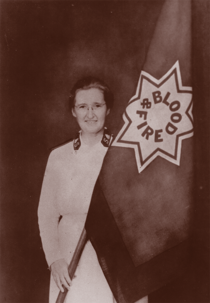 Historical Photo of Salvation Army Flag